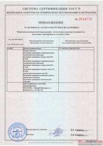 Приложение к РОСС RU.AГ39.Н00613.
